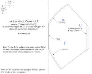 MakerMask: Cover nonwoven polypropylene mask cover