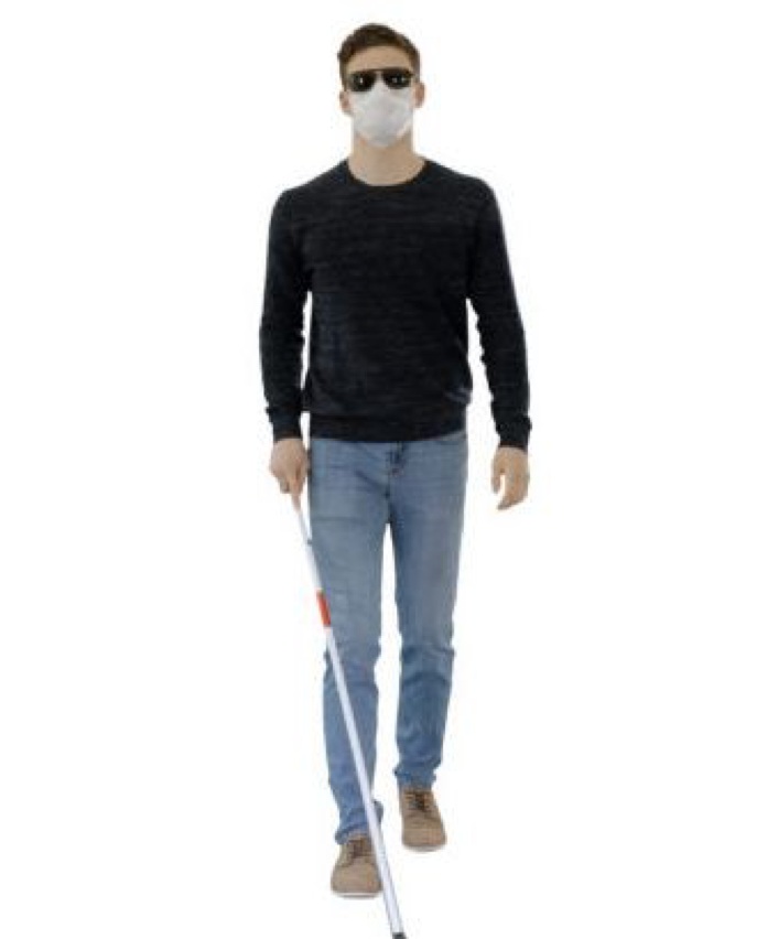 Masks for the Blind During the COVID-19 Pandemic