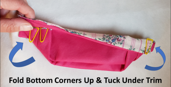 "Fold Each Corner Up and Tuck Under ""Trim"""