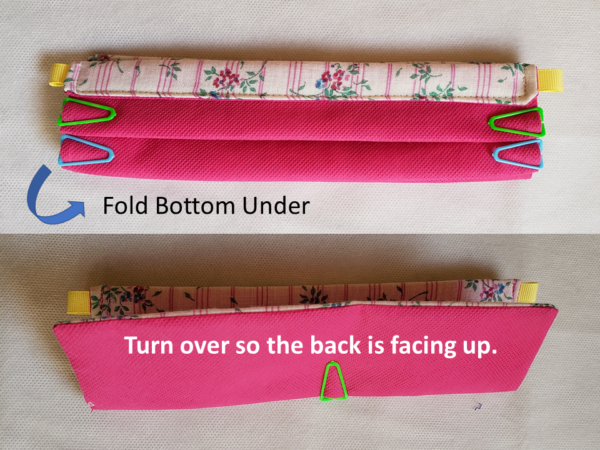 Fold Back Under and Turn Mask Over