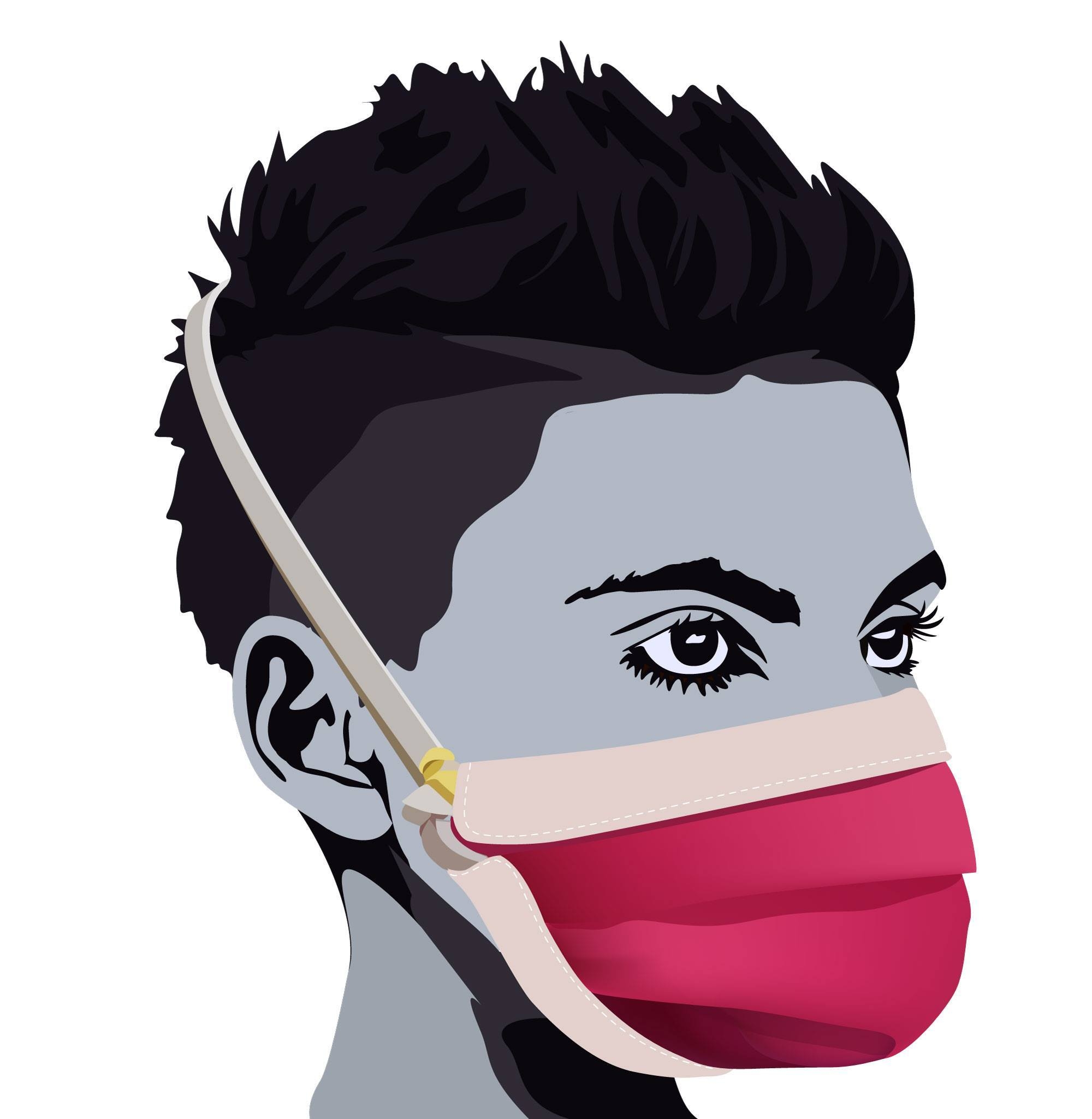 Illustration of the MakerMask: Origami Mask